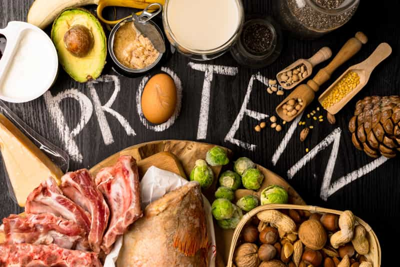 Food that contains protein